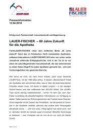 60 Jahre LF - LAUER-FISCHER GmbH