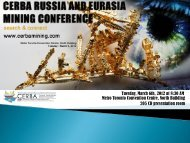 RUSSIA & EURASIA MINING CONFERENCE 2012 - Canada ...
