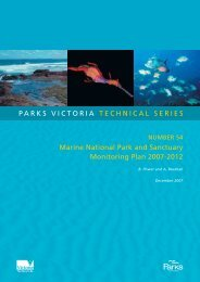 Marine National Park and Sanctuary Monitoring Plan ... - Parks Victoria