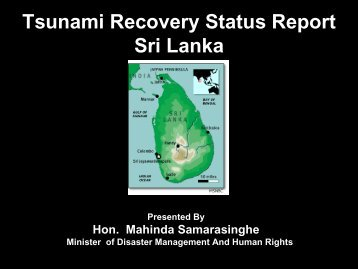 Tsunami Recovery Report Sri Lanka - International Recovery Platform