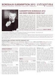 Newsletter 2012er Bordeaux-Subskription - Extraprima