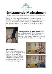 Programm Entstauende Maßnahmen - Moritz Klinik