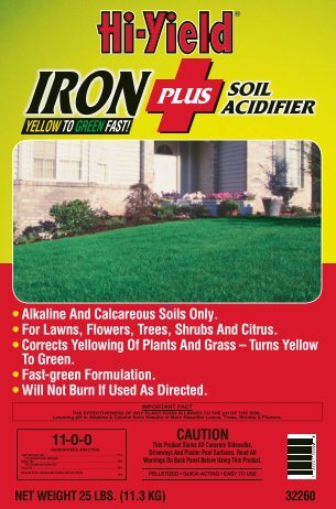 Label 32260 Iron Plus Soil Acidifier Approved 04-10-2012 - Fertilome