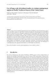 Use of large-scale silvicultural studies to evaluate management ...
