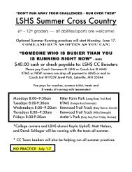 LSHS Summer Cross Country - Lakeville South High School ...