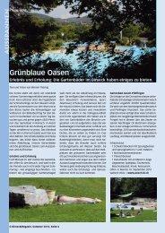 Grünblaue Oasen - Birseck Magazin