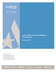 Lower Health Care Prices Requires Transparency - Amwinspresskit ...