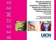 Résumés des Analyses UICN/TRAFFIC des propositions d ...