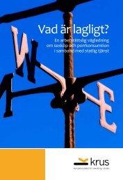 Boken Vad är lagligt? – En arbetsrättslig vägledning ... - Sören Öman