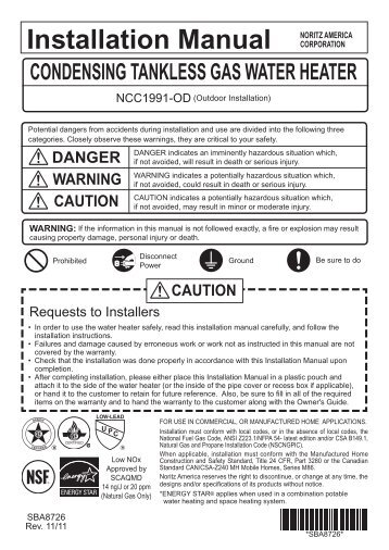 Installation Manual - The Energy Conscious