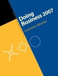 Doing Business 2007 - le cercle du barreau
