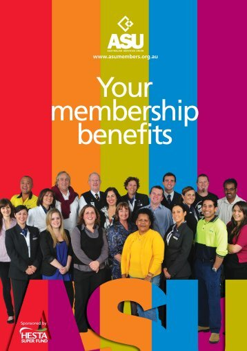 Click here to download your membership benefits booklet. - ASU NSW