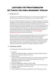 Tipps für Privatverkäufer - Ottstadt Immobilien GmbH