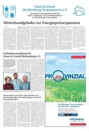 Mai 2005 - Haus & Grund Mecklenburg-Vorpommern eV