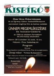 2012. 10.szám - Ócsa