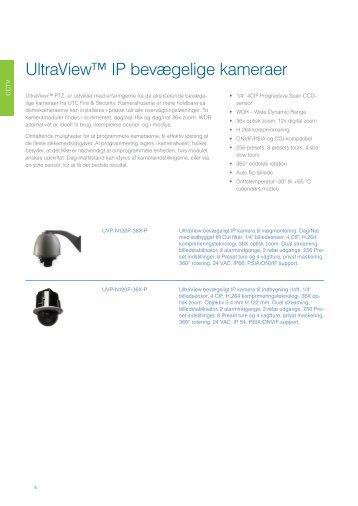 UltraView™ IP bevægelige kameraer - UTC Fire & Security - Danmark