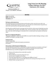 NOTES Long Term Care SIG Meeting Friday, February 18, 2011 ...