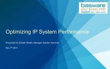 Optimizing IP System Performance - Basware
