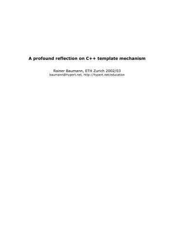 A profound reflection on C++ template mechanism - Baumann, Rainer