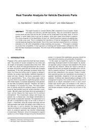 Heat Transfer Analysis for Vehicle Electronic Parts