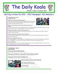 The Daily Koala October 2011 - Cowlishaw Elementary School