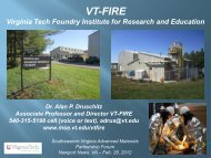 Virginia Tech Foundry Institute for Research and Education