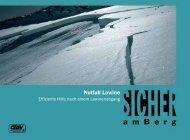 Notfall Lawine - alpineausbildung.at