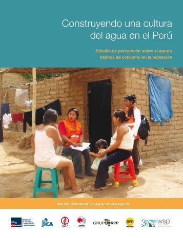 Construyendo una cultura del agua en el Perú - WSP