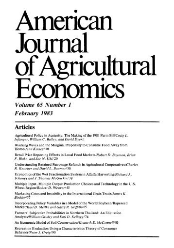 Volume 65 Number 1 February 1983 - American Journal of ...