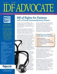 Number 62 – Fall 2009 - Immune Deficiency Foundation