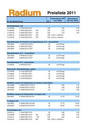 Preisliste Radium 2011 für Homepage