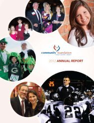 2012 annual report - Community Foundation of West Chester/Liberty