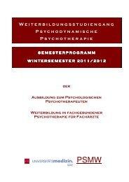 Semesterprogramm Wintersemester 2011/2012