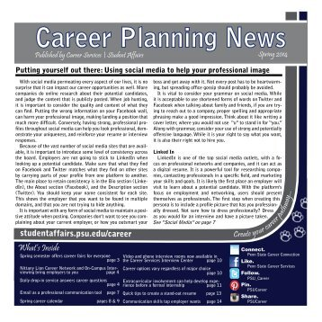 Career Planning News - Student Affairs