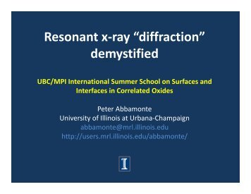 "Resonant x-ray ""diffraction"" demystified"