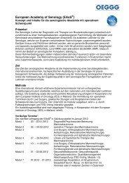 Konzept und Inhalt_3. Kurs EAoS - Österreichische Gesellschaft für ...