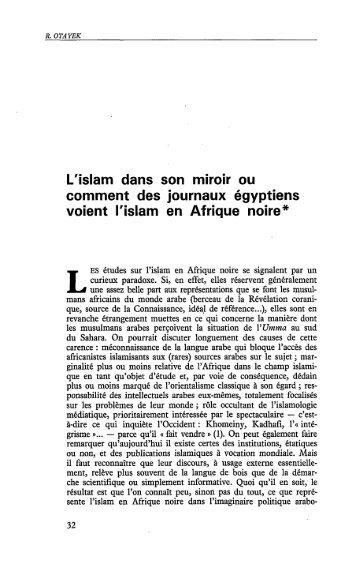 L'islam dans son miroir ou comment des ... - Politique Africaine