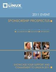 2011 EVENT SPONSORSHIP PROSPECTUS - The Linux Foundation
