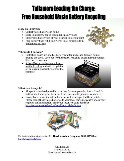Nearest Battery Store >> How Do I Recycle A A A Collect Waste Batteries At Home