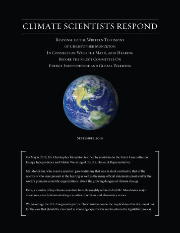 Climate Scientists Respond - Skeptical Science