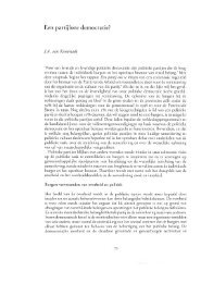 Een partijloze democratie? - Montesquieu Instituut