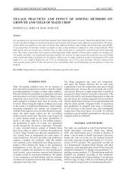 tillage practices and effect of sowing methods on growth and yield of ...