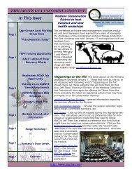 January 21, 2013 Volume 6 Issue 2 - Montana Association of ...