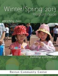 2012-13 Winter/Spring Program Guide - Reston Community Center