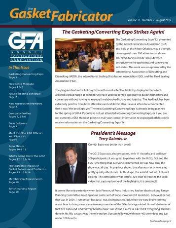 August 2012 - Gasket Fabricators Association