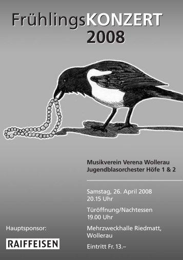 Frühlingskonzert 2008 - Musikverein Verena Wollerau