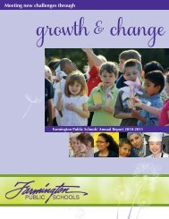 District Annual Report - Farmington Public Schools