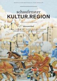 Schaufenster Kultur.Region Dezember 2013/Jänner 2014 - Museen ...