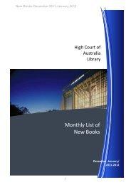 international law - High Court of Australia
