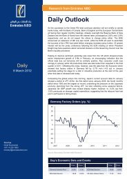 Daily Outlook - Emirates NBD Securities